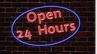 24時間営業の店舗と飲食店